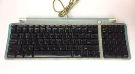 Vintage Genuine Apple USB blue Wired Keyboard Model M2452 Translucent Teal  - $19.34