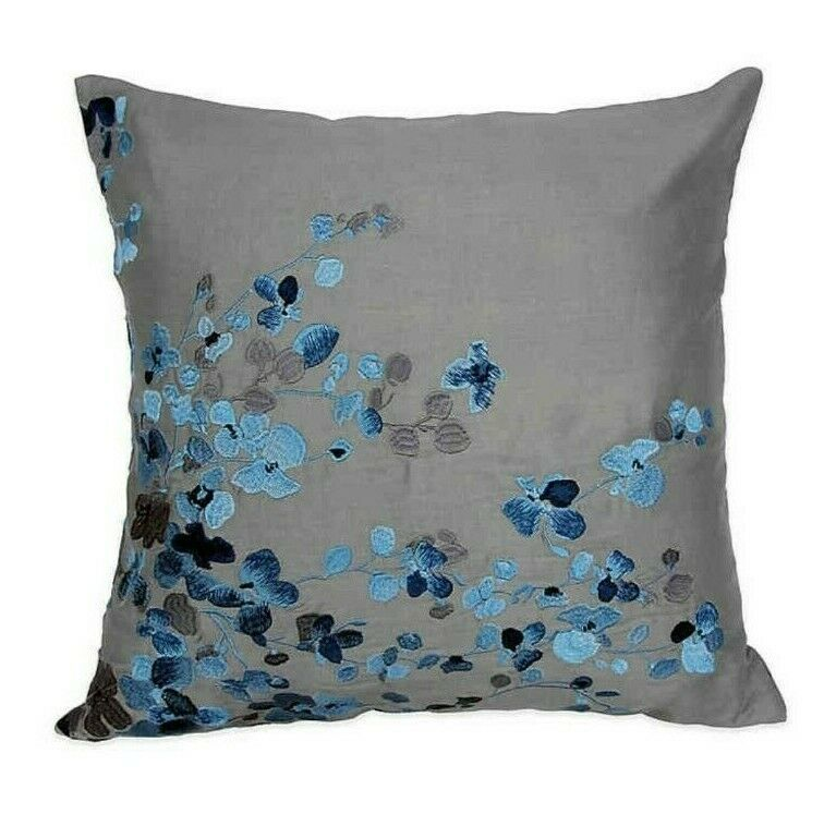 Alamode Home Hycroft Embroidered Square Throw Pillow
