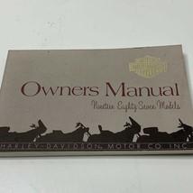 Harley Davidson Genuine Owner's Manual 1987 Models 99466-87 - $24.00