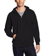 Hanes Men's EcoSmart Fleece Hoodie and Full Zip Hooded Jacket (Large Black) - $17.27