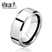 2017 Silver Color Stainless Steel Men's Fashion Ring Cool High Polished ... - $11.99