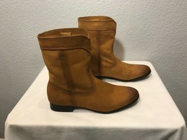 NEW FRYE CARA ROPER MID-CALF LEATHER BOOTS COGNAC, WOMENS US SIZE 8 - $99.99