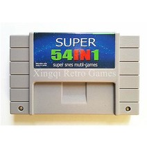 SNES Super 54 in 1 Video Game Cartridge Console Card US Version - $64.89