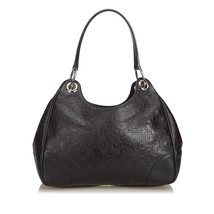 Pre-Loved Gucci Brown Others Leather Embossed Horsebit Hobo Bag Italy - $396.44