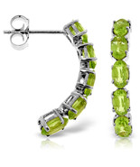 2.5 Carat 14K Solid White Gold Earrings Natural Peridot - $225.43