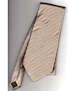Donald J Trump Signature Collection Tan Striped Mens Tie - $22.50