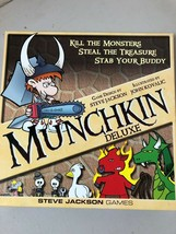 Munchkin Deluxe Board Card Game From Steve Jackson Games COMPLETE - $29.65