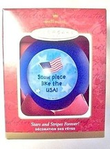 Hallmark Ornament Military Patriotic Christmas Stars Stripes Forever Kee... - $2.72