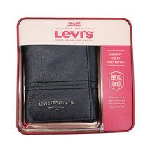 Levi's Men's RFID Blocking Trifold Credit Card ID Logo Black Wallet 31LV110046 image 4