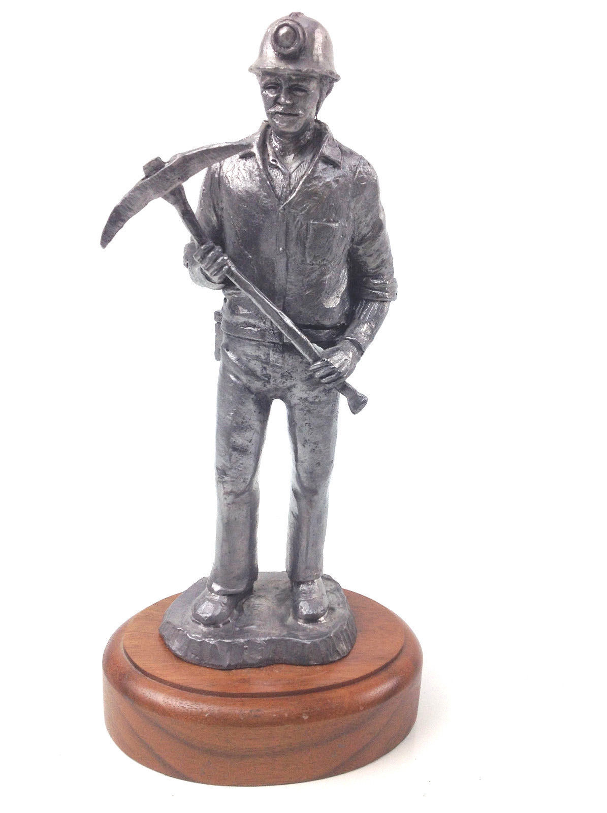 MIchael Ricker Pewter Little Al Boy Leaning on Mailbox with KITE