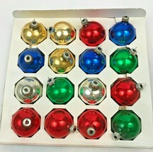 "Vintage Glass Christmas Ornaments Balls Set 16 Multi  Lot 2.5"" Rauch Boxed USA - $24.74"