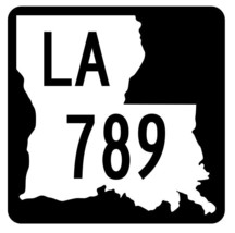 Louisiana State Highway 789 Sticker Decal R6098 Highway Route Sign - $1.45+