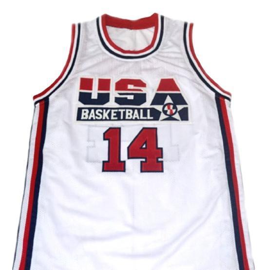 Alonzo mourning  14 team usa basketball jersey white 1