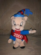 "Looney Tunes Year Porky Pig 4th Of July Plush 7"" Beanbag Patriotic 2000 ... - $14.84"