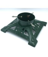 "John Wright LL Bean Cast Iron HEAVY Christmas Tree Stand Green 14"" Squar... - $65.99"