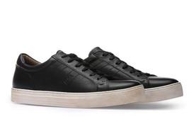 BOSS Calfskin Vintage Sneaker | Noir Tenn Itws Size 8 - $225.00