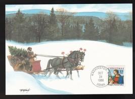 CHRISTMAS 1986 #2244 MADONNA WASHINGTON DC OCT 24 1986 FLEETWOOD MAXI CARD  - $2.98