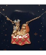 Disney store Japan Lady and Tramp pendant necklace  - $84.15
