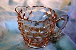 Jeannette Glass 1933 Cube Pink 6 oz Creamer - $2.76