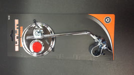 Sunlite Round Bicycle Mirror - Chrome - with Red Reflector - 3 inch Diameter - $6.85