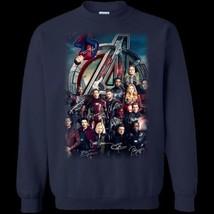 Avengers All Superheroes Signature G180 Navy Sweatshirt 8 oz Unisex Made... - $28.66+