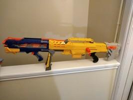 NERF N-Strike Yellow Longshot CS-6 w/ Front Dart Blaster, and Clip - $18.99