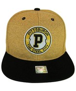 Pittsburgh Steel City Patch Style Snapback Baseball Cap (Gold/Black) - $13.49