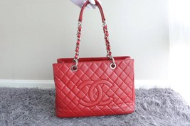 BRAND NEW AUTH CHANEL QUILTED CAVIAR GST GRAND SHOPPING TOTE BAG WITH RECEIPT