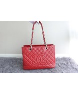 BRAND NEW AUTH CHANEL QUILTED CAVIAR GST GRAND SHOPPING TOTE BAG WITH RE... - $2,299.99