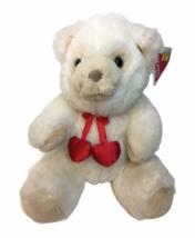Dakin RARE Valentine Bobbles Teddy Bear Plush White Stuffed Animal Red H... - $59.00