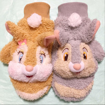 Tokyo Disney Resort limited Miss bunny & Thumper plush doll gloves Brown... - $58.41
