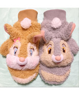 Tokyo Disney Resort limited Miss bunny & Thumper plush doll gloves Brown... - $58.41
