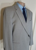 CALVIN KLEIN MACY'S MEN'S BARLEYCORN SPORTS COAT BEIGE WOOL 42R - $19.95