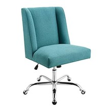 Linon Mermaid Blue Upholstered Swivel Clayton Office Chair - $307.73