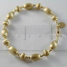 THREE 18K WHITE ROSE YELLOW GOLD BANGLE SATIN BRACELET BRACELETS MADE IN ITALY image 4