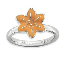 Sterling Silver Gladiolus Ring by Stackable Expressions, Best Quality Fr... - $31.60