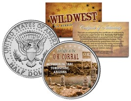 GUNFIGHT at the O.K. CORRAL *Wild West Series* Kennedy Half Dollar US Coin - $8.86