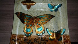 """Beautiful Hand Painted Butterfly Plate 12'x12"""" - $14.84"""