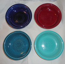 "FIESTAWARE Homer Laughlin. 4 Cereal/Soup Bowls. 4 Colors! 7"" - $10.00"