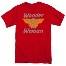 Wonder Woman 70s Logo T-shirt retro DC comic Superman superhero DCO732 image 2