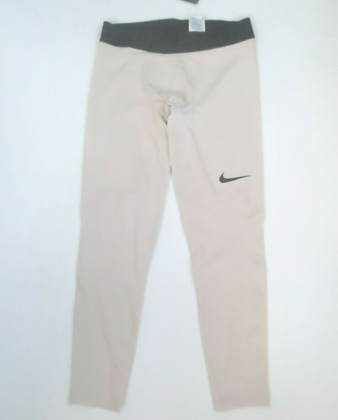 Nike Men PRO Premium Tights Pants - 928996 - Sand 008 - Size L - NWT