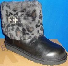 UGG Australia KIDS ELLEE Black Leopard Cuff Boots TODDLER Size US 11 NIB... - $69.25