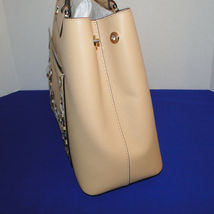 Michael Kors Meredith Med E/W Bonded Leather Tote Butternut image 4