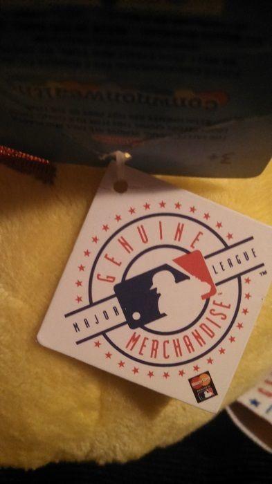 "Cincinnati Reds Yellow Angry Bird Baseball Plush 5-1/2"" tall-MLB Genuine Mdse"