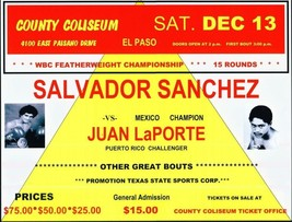 SALVADOR SANCHEZ vs JUAN LAPORTE 8X10 PHOTO BOXING POSTER PICTURE - $4.94