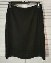 NWT! Anne Klein Women's Size 12 BLACK with BEADS Pencil Lined Skirt - $1... - $34.60