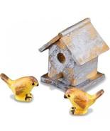 Garden Birdhouse Set 1.744/8 Reutter Weathered Dollhouse Miniature - $13.58