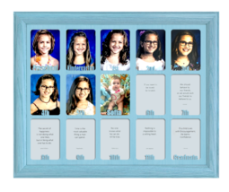 "School Years Picture Frame - P 12  Personalized Preschool 2.5"" x 3.5"" Aqua - $64.95"