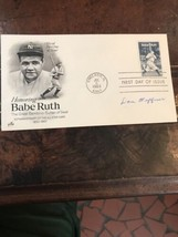 1983 Babe Ruth FDC Autographed by Dan Heffner - $48.02