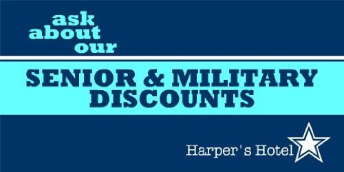 3x6 Vinyl Banner - Senior and Military Discount